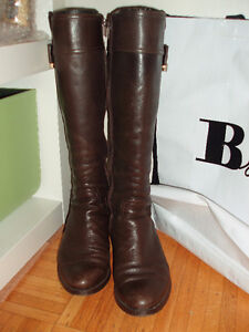 Browns Couture chocolate brown tall boots gold lockets