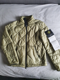Stone island jacket garment dyed quilted micro yarn down jacket si