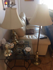 Brass Lamps - 1 table lamp and 1 standing lamp - MOVING SALE!