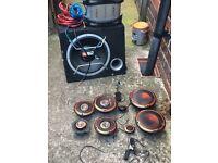 Base box speakers amp