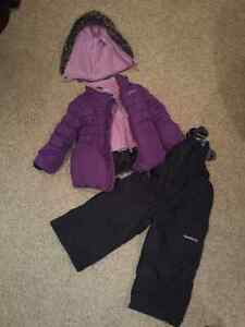 Girls Oshkosh Winter Jacket and pants. Snow Suit. 2T.