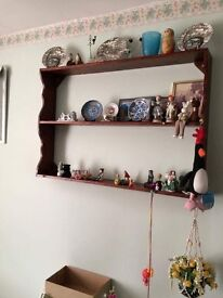 Wooden wall plate rack/ unit