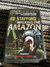 Signed Ed Stafford walking the amazon book, brand new, mint condition