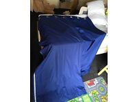 Boys blue blackout ringtop bedroom curtains 66x72 play mat & coat hanger