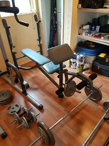 Gym set with weights