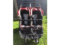 """Red & Black """"City Jogger"""" Double Buggy"""