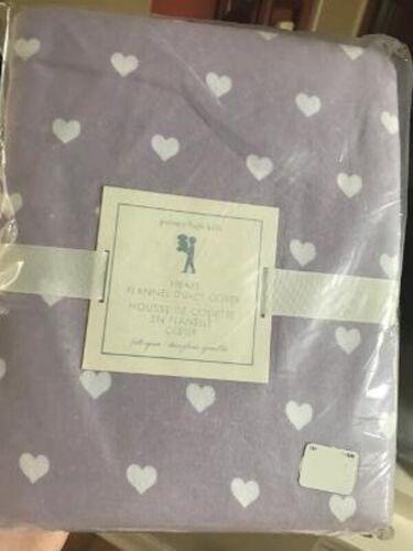 Pottery Barn Kids Heart Duvet Cover Lavender Queen Flannel No Shams