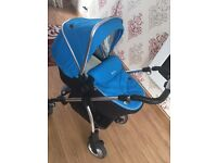 Blue silver cross good condition pram