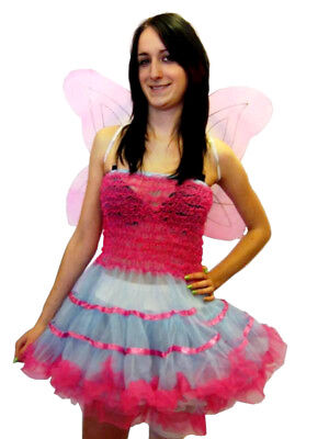 Cute Sexy Pink Fairy Wings Fancy Dress Halloween Costume Theme Party Outfit - Fairy Themed Halloween Party