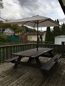 8 foot Picnic Table with Umbrella