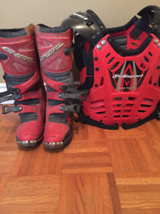 motocross chest protector/ boots