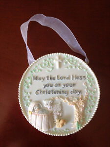 Christening Day Wall Plaque