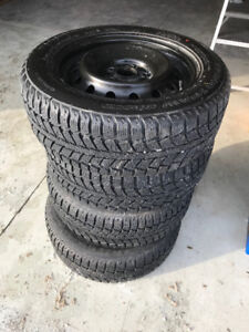 195/65R15 WINTERFORCE TIRES AND RIMS