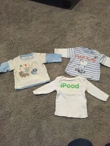 0-3 month baby t-shirts $3 each