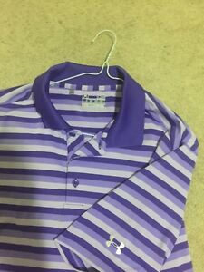 Mens under armour golf shirt large