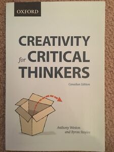 Creativity for Critical Thinkers Canadian Edition.  Cambridge Kitchener Area image 1