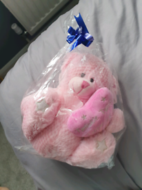 Pink teddy bear brand new