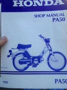1983 Honda PA50 Shop Manual Regina Regina Area image 1