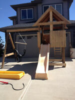 Very Sturdy Play Structure and Swing Set