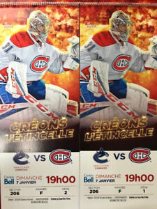 Pair of Montreal Canadiens vs Vancouver Canucks! BOX SEATS