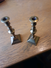 Two Vintage Brass Candlesticks
