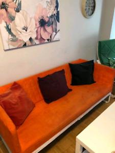 Orange Sofa with 3 cushions