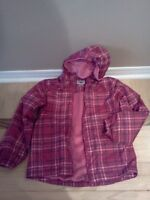 Good Quality girl's raincoat with lining Size 10-12