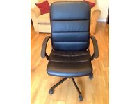 Leather Black Swivel Chair
