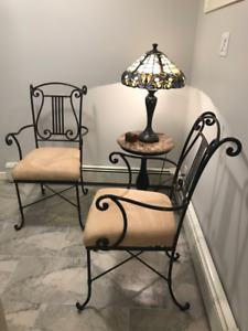 Superior quality wrought  iron dining set 1 table & 4chairs
