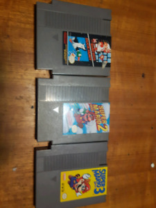 First 3 Super Mario NES Cartridges