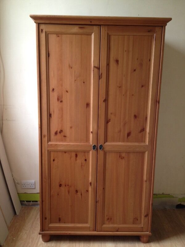 Ikea leksvik wardrobe in crediton devon gumtree for Armoire de chambre ikea