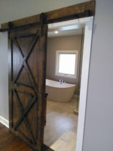Custom Barn Doors, Beams and everything rustic !