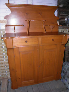 Old Canadiana Pine Buffet/Jam Cupboard