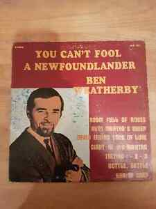 VINTAGE RECORDS.  BEN WEATHERBY.YOU CAN'T FOOL A NEWFOUNDLANDER.