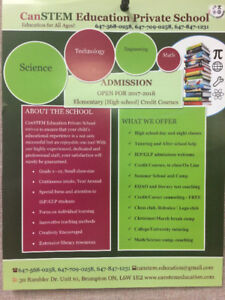 Private School--Credit Courses, Day and Night School, Tutoring,