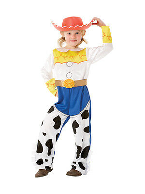Child Disney Toy Story Jessie Deluxe Fancy Dress Costume Cowboy Kids Girls BN
