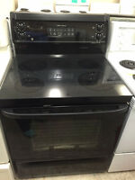 Black 30 inch Stove Glass Top Excellent Condition