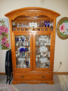 oak china cabinet 6 foot 3 x 42 x 16