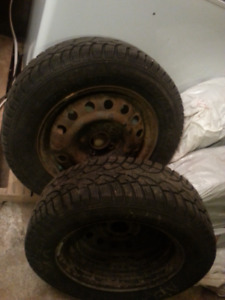 4 used winter tires on rims