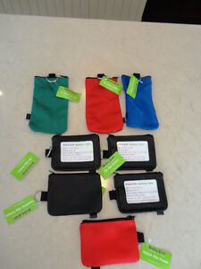 NEW Boleo Id Zip Cases, Nylon Zip Cases & Eyeglass/Sunglass Case