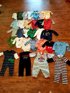Boys long sleeve onsies size 3m up to 24m