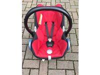 Red Maxi Cosi Cabriofix car seat