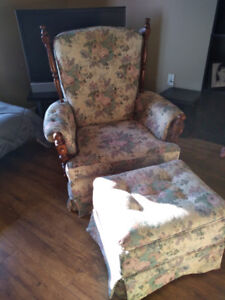 Two Chairs and Ottoman