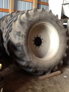 Sprayer tires on rims.