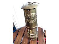 E Thomas & Williams Cambrian brass miners lamp No 193391 lantern