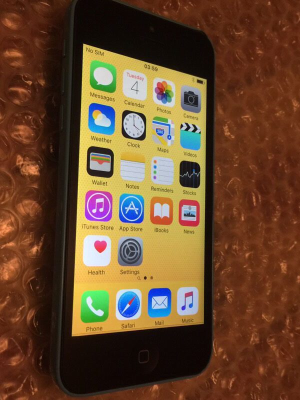 iPhone 5c blue 8GB ee virgin networks