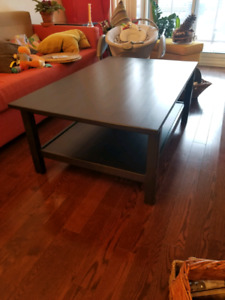 IKEA Hemnes coffee table, black-brown