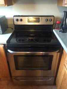 Moving sale-frigidaire stove and fridge stainless steel finish