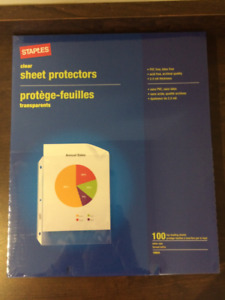 Clear Sheet Protector 100 pack