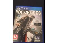 Watch Dogs PS4 PlayStation 4 game. £8 ONO. Cheap. Bargain